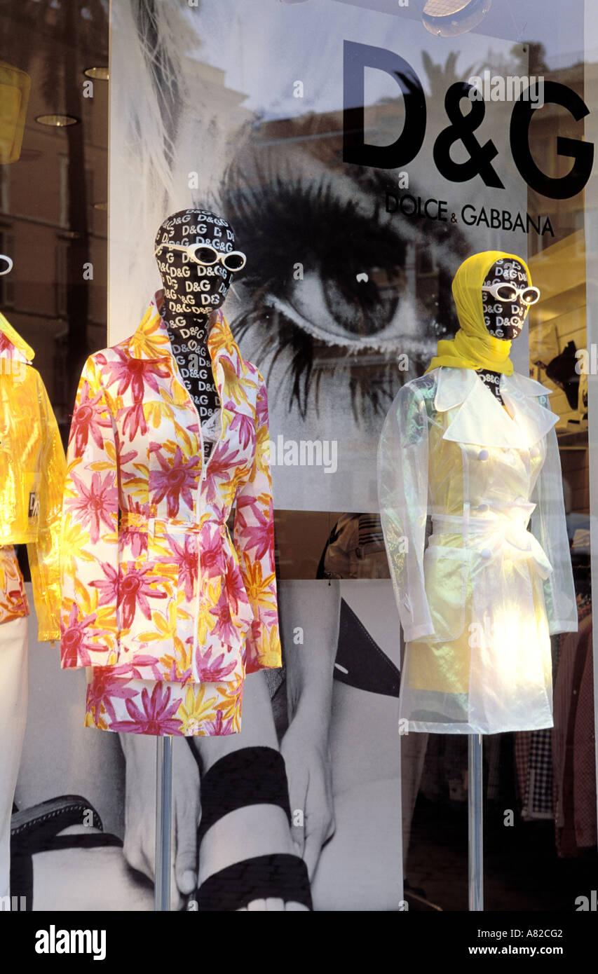 """Italy, Lazio, Rome, """"Dolce et Gabannaî shop - Stock Image"""