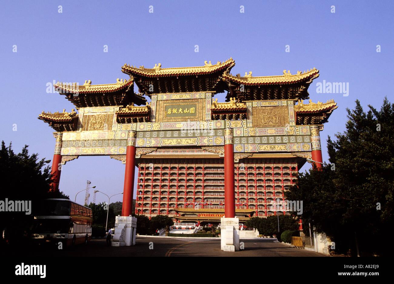 Taiwan, Taipeh, the Grand Hotel - Stock Image