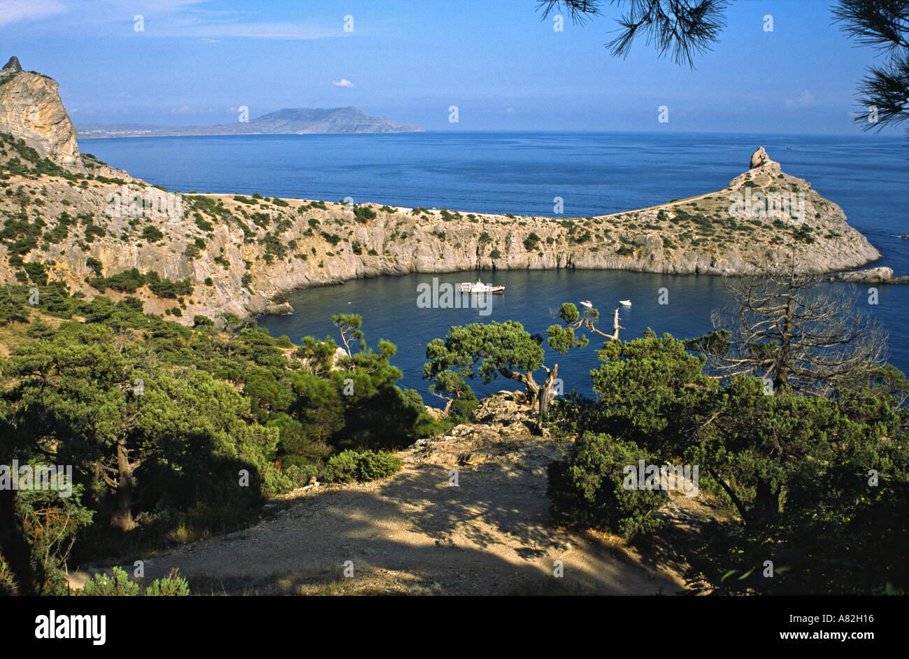 Tsar's beach, Crimea, Ukraine Stock Photo