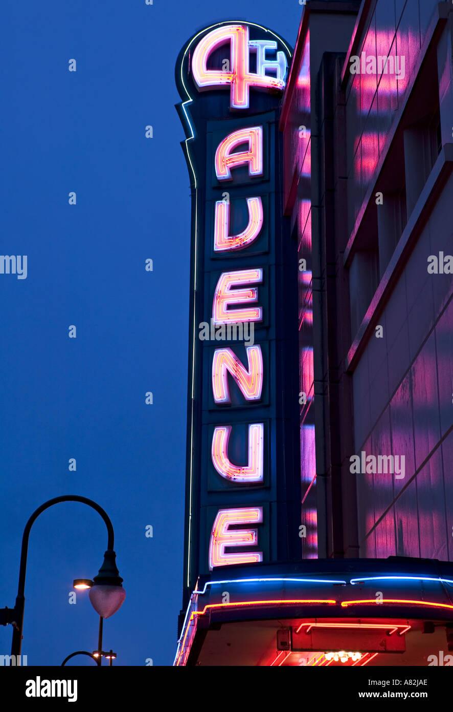 4th Avenue theatre, Anchorage, Alaska, USA - Stock Image