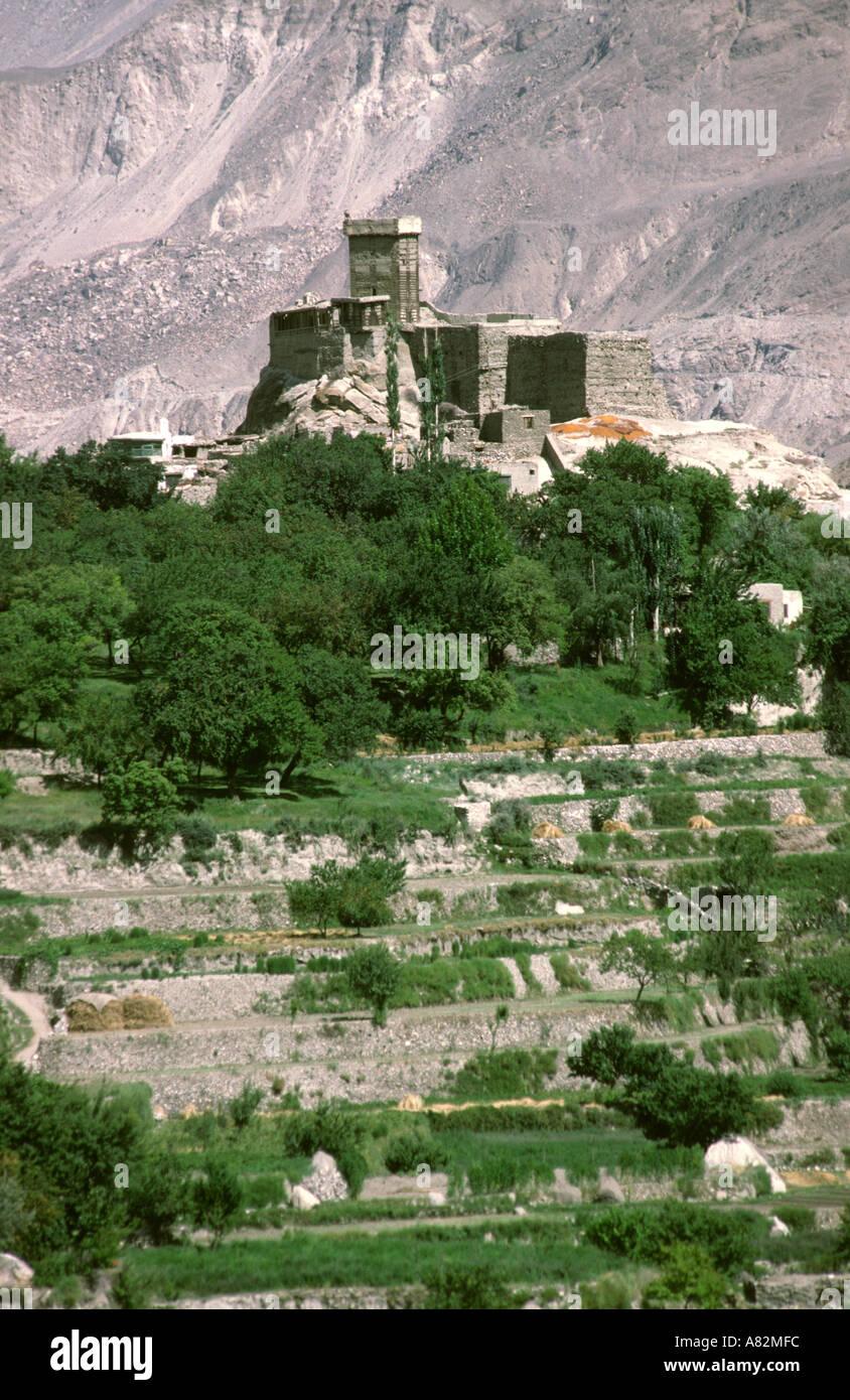 Pakistan Hunza Valley Karimabad Altit Fort - Stock Image