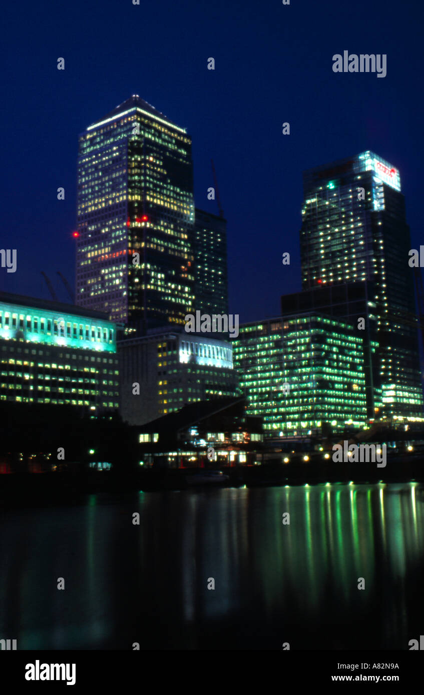 Office buildings Canary Wharf London - Stock Image