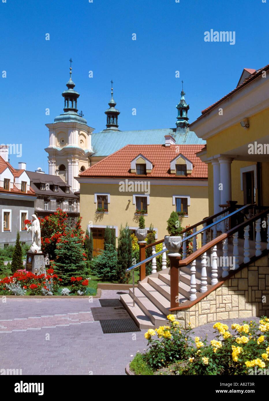 Parish buildings in Przemysl Poland - Stock Image