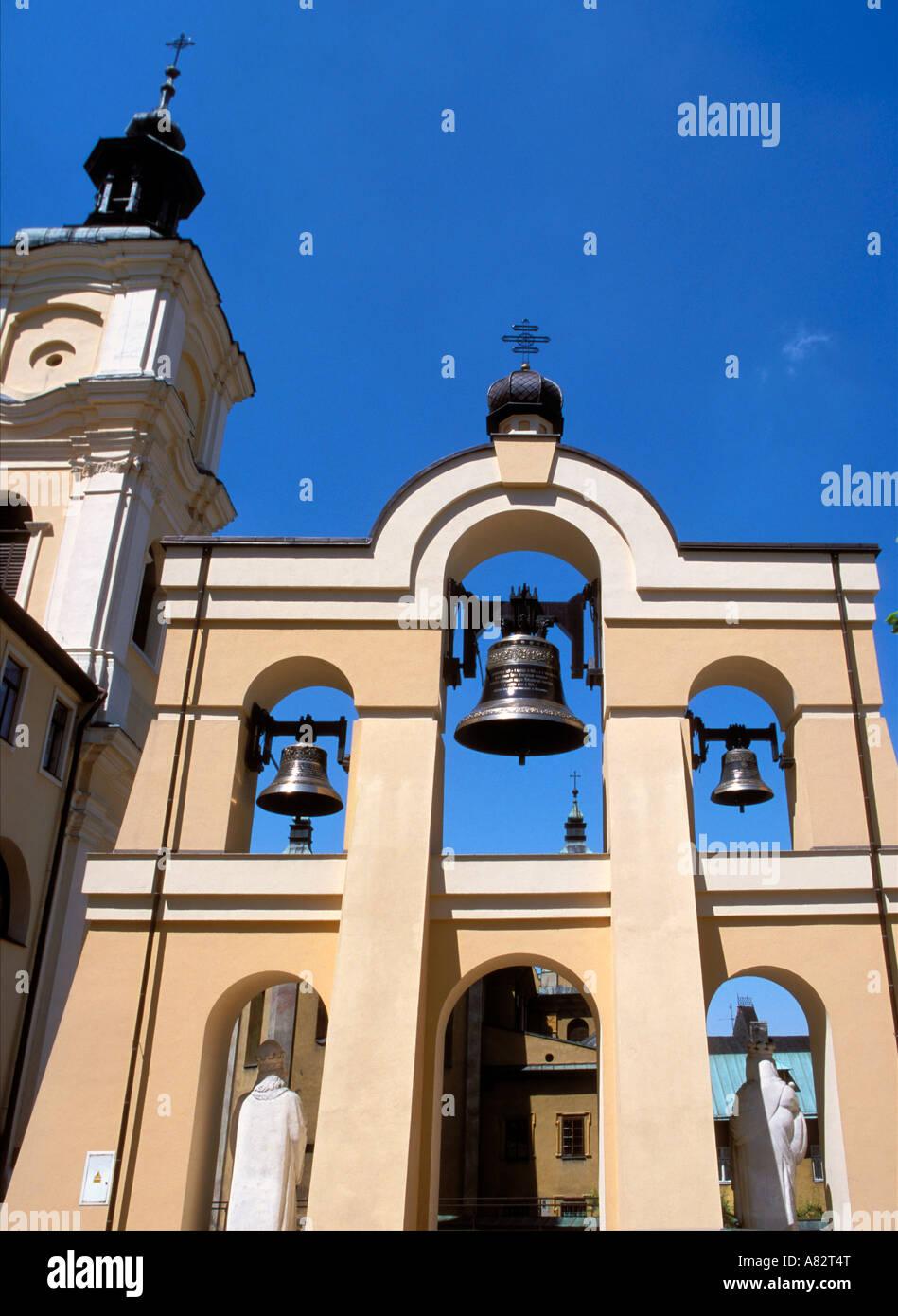 Bells of Orthodox Church in Przemysl of Poland - Stock Image