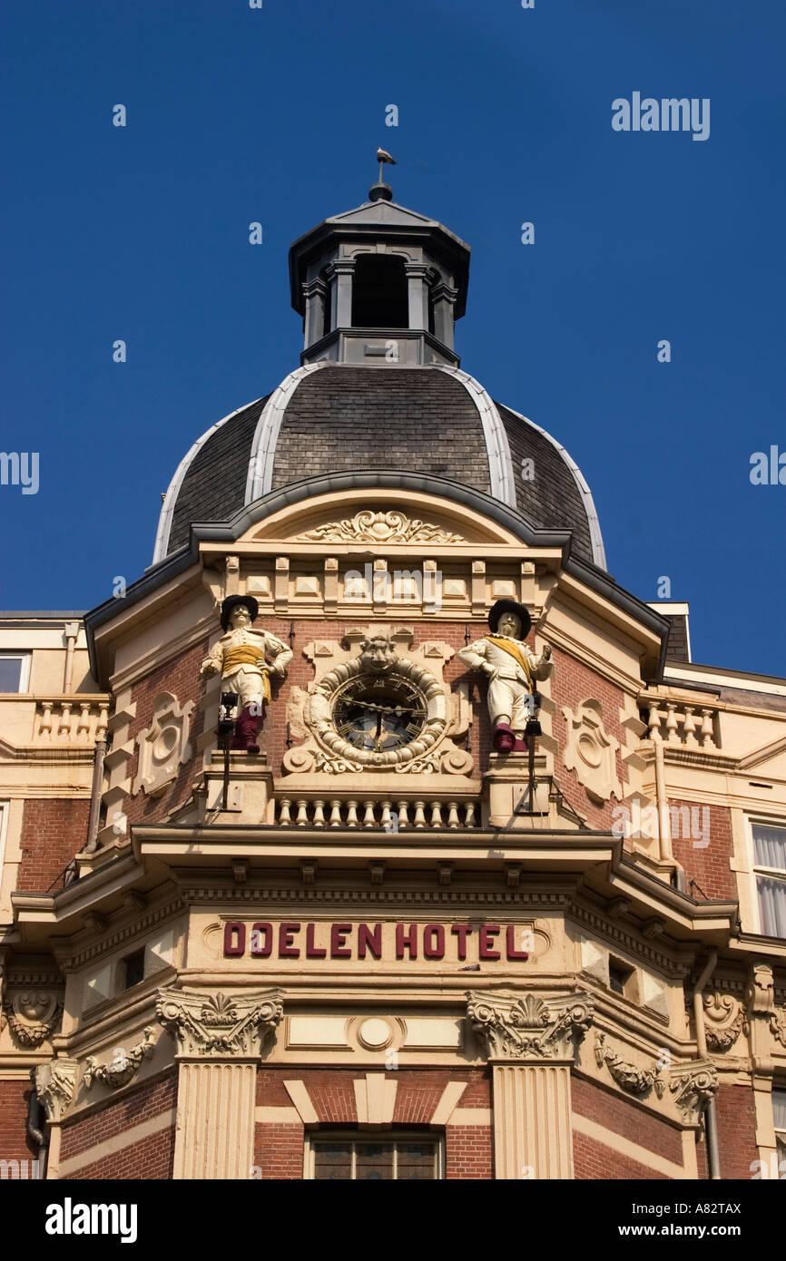 Amsterdam Hotel Doelen facade - Stock Image