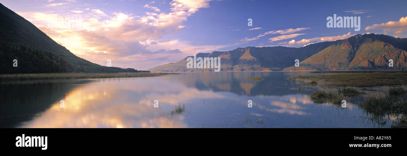 Chugach Mountains, Kenai Peninsula, Alaska, USA - Stock Image
