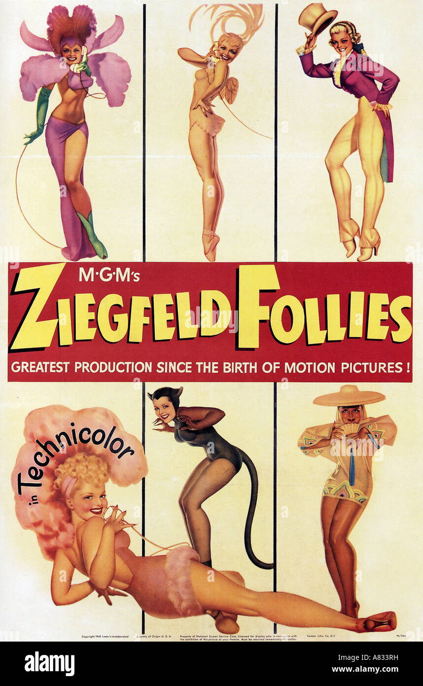ZIEGFELD FOLLIES - poster for  1946 MGM film musical - Stock Image