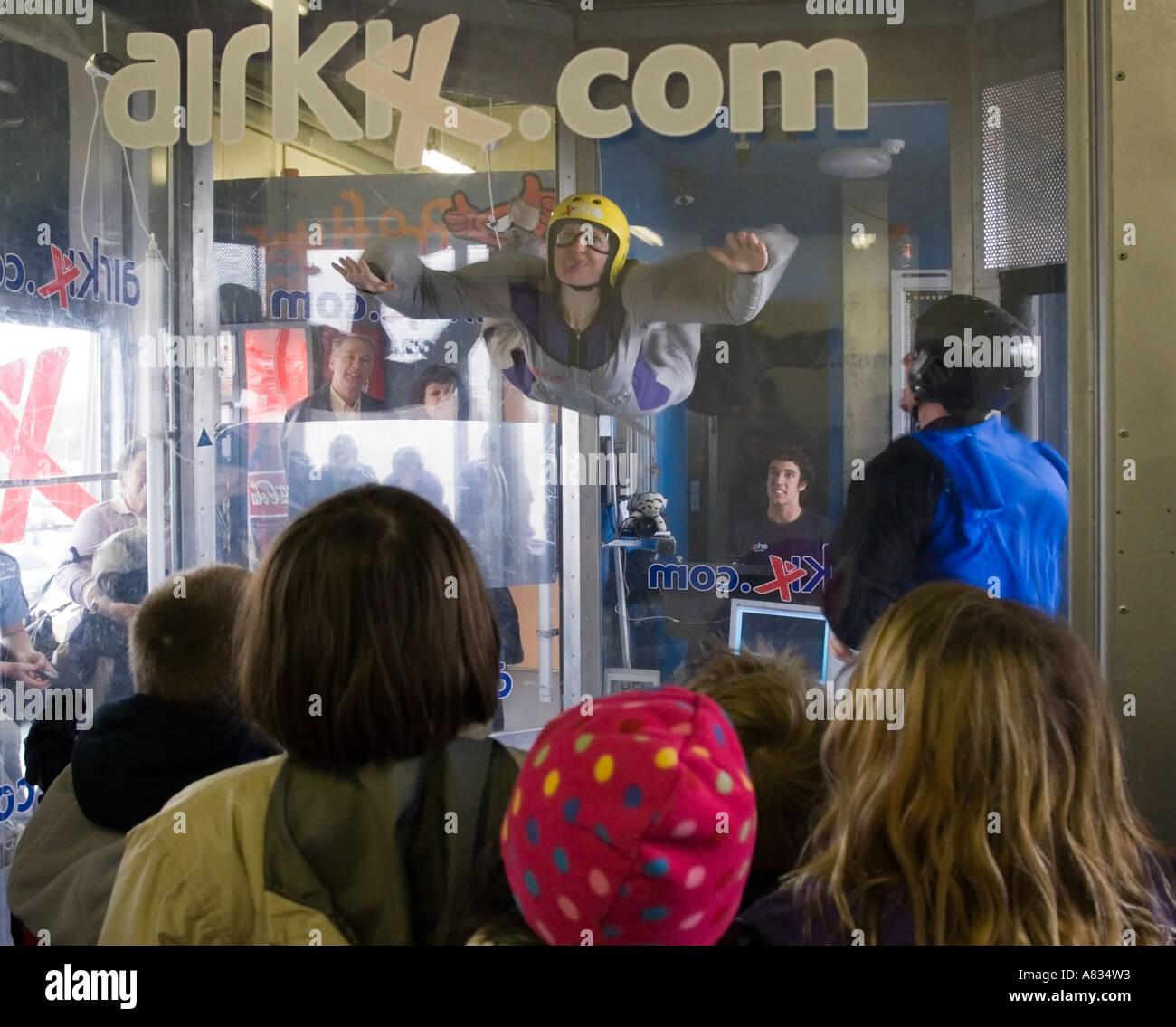 Airlix Indoor skydiving xscape milton keynes - Stock Image