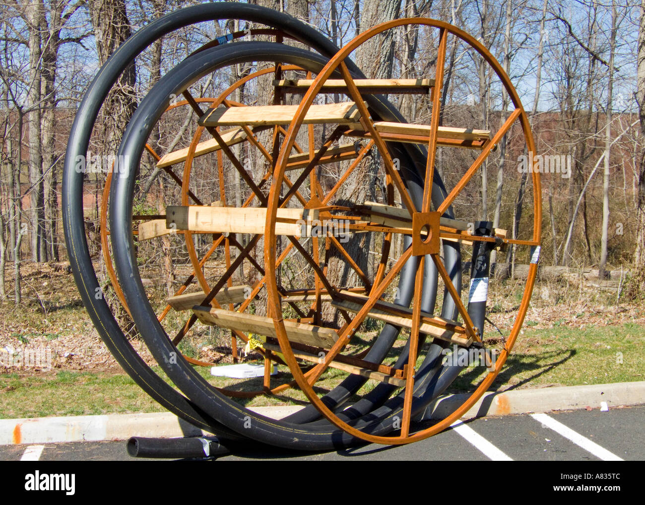 Spools for large gauge wire Stock Photo: 6841163 - Alamy