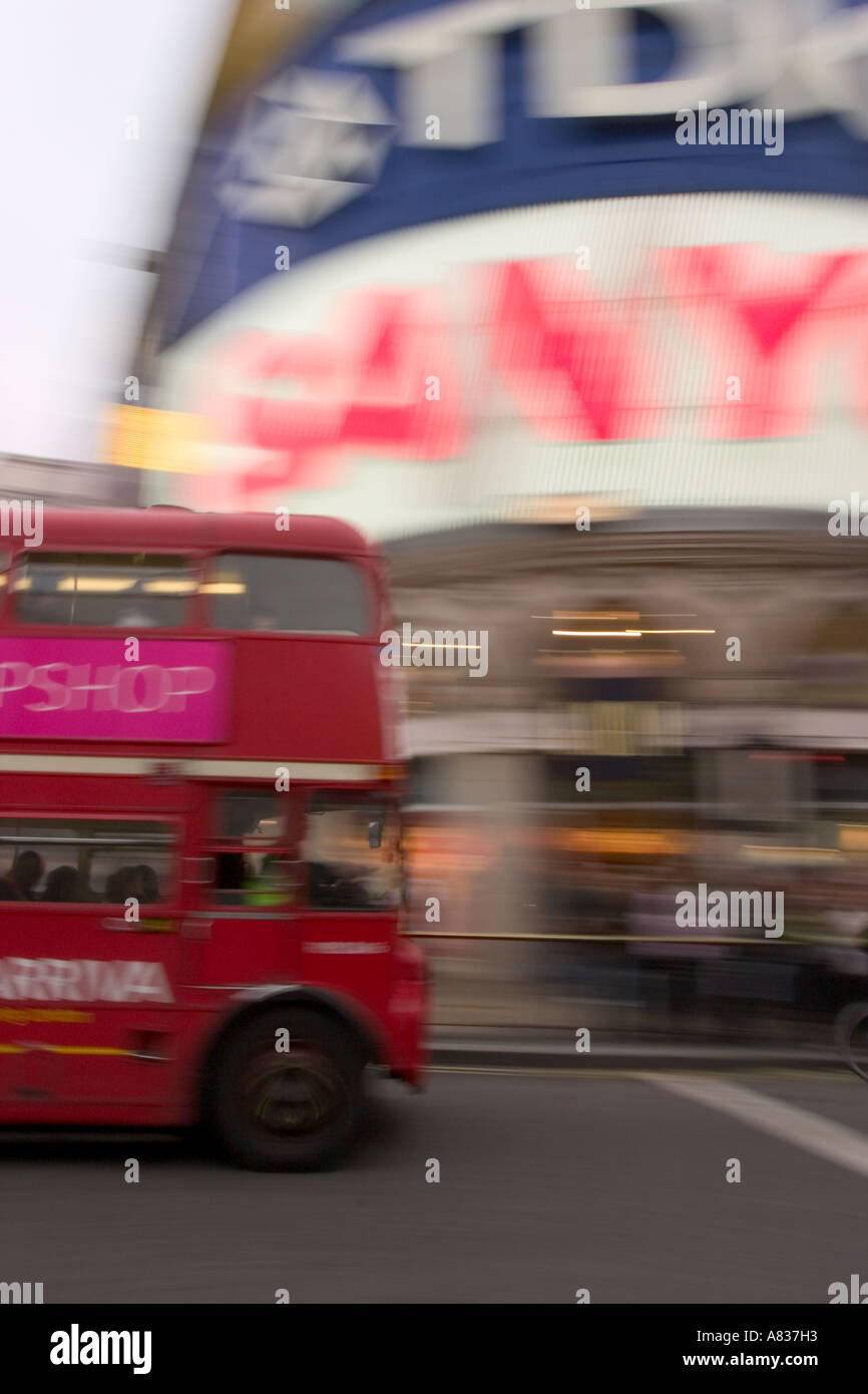 Double decker bus in Piccadilly, London - Stock Image