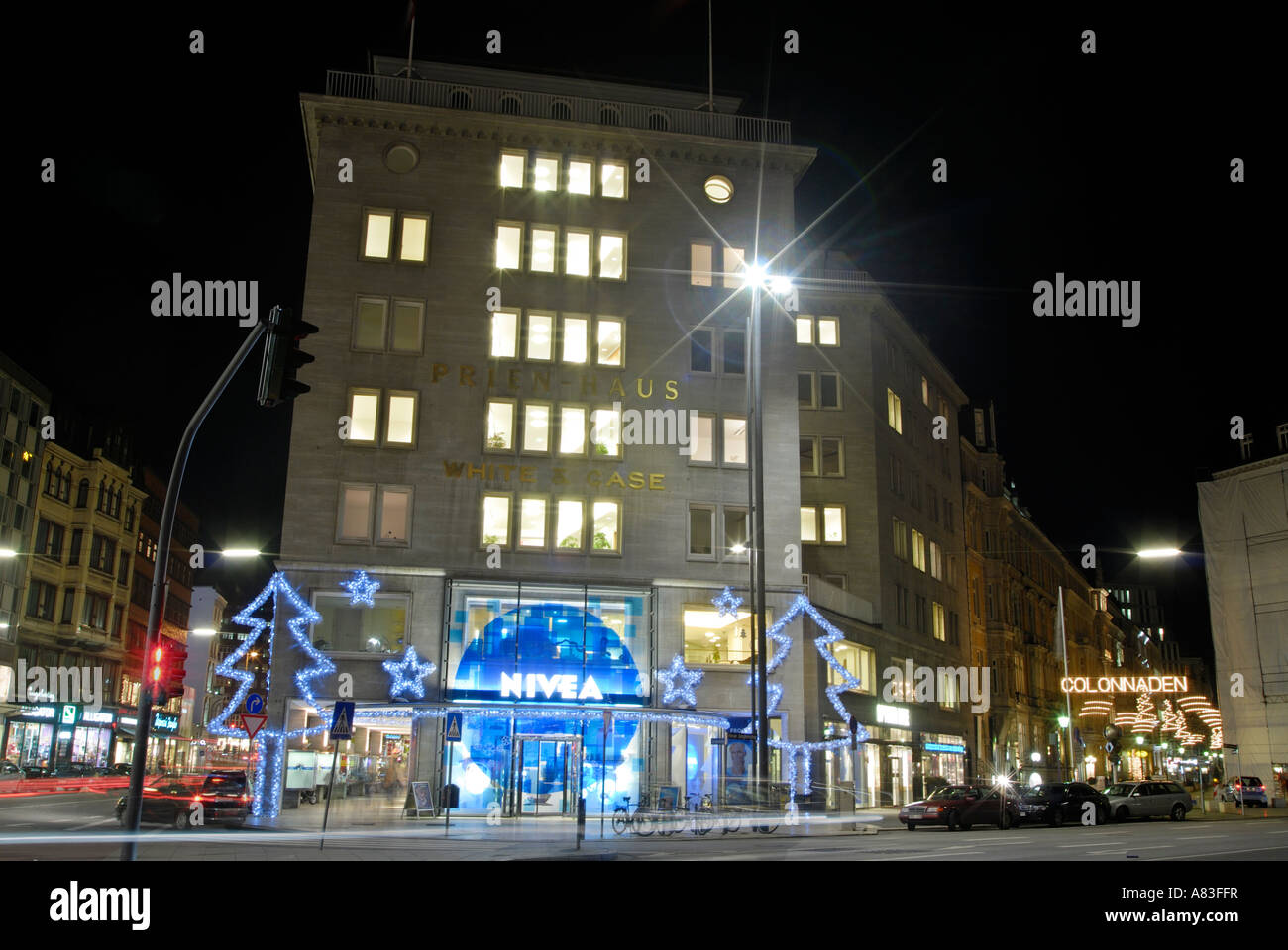 The first brand shop of NIVEA in Hamburg, Germany - Stock Image