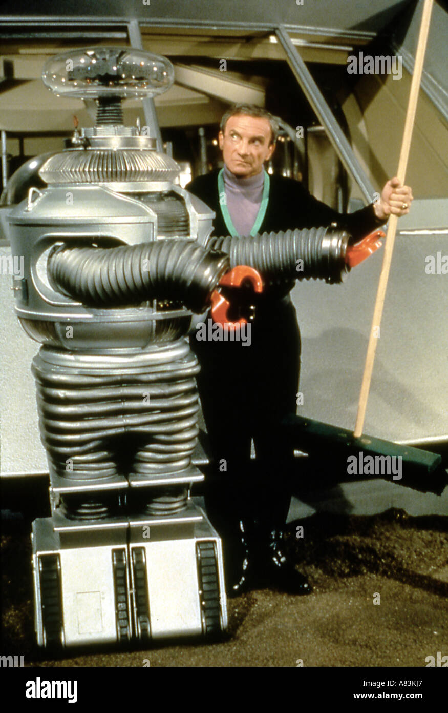 LOST IN SPACE US TV series 1965 to 1968 with Jonathan Harris - Stock Image
