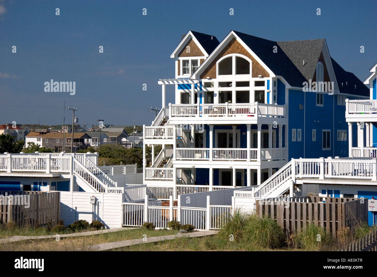 Newly constructed two story beach house at Kitty Hawk South Carolina