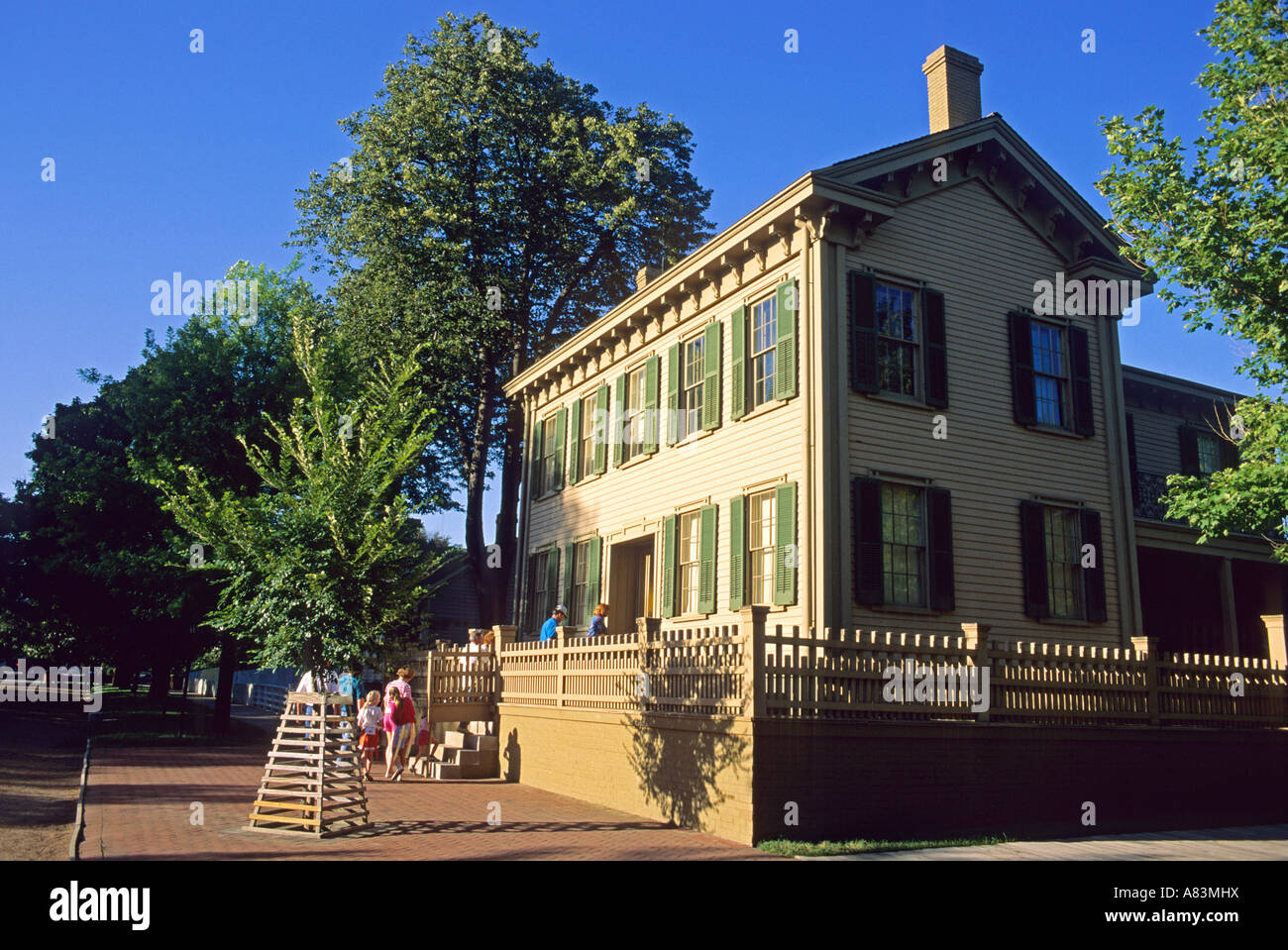 Abraham Lincoln s home in Springfield Illlinois - Stock Image