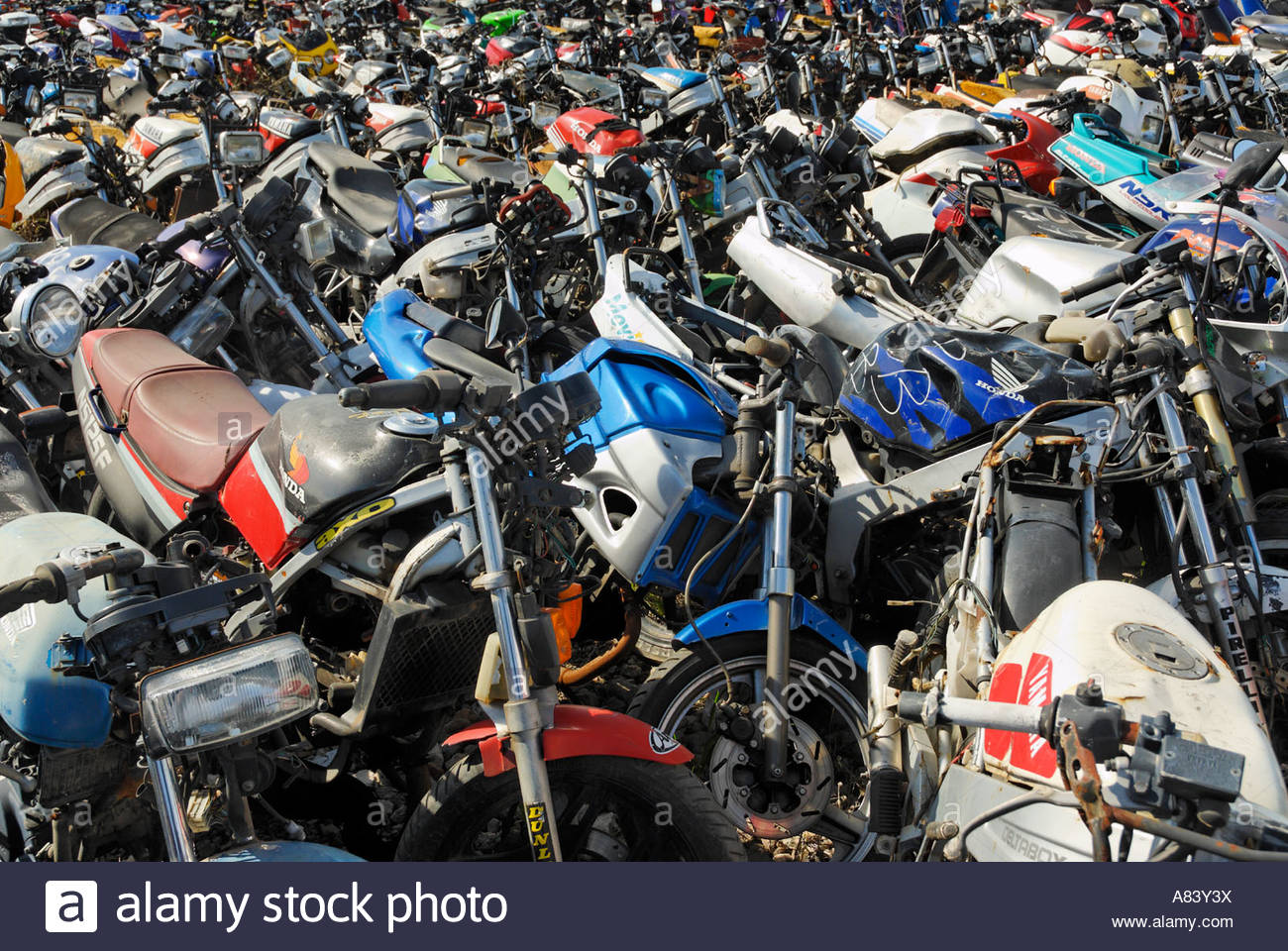 Motorcycle Scrapyard Stock Photo 11979229 Alamy