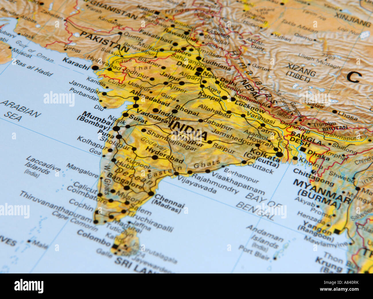 India Country Map Stock Photos & India Country Map Stock Images - Alamy