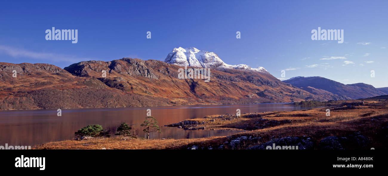 Slioch, Loch Maree on the Beinn Eighe Nature Reserve Scottish Highlands GPAN 0078 - Stock Image