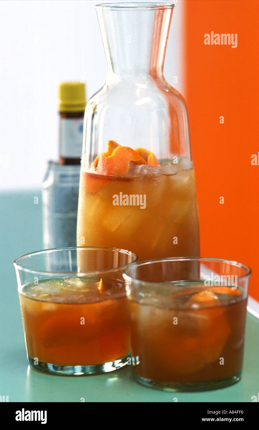 Long Non Alcoholic Drink Of Orange And Angostura Bitters Stock Photo