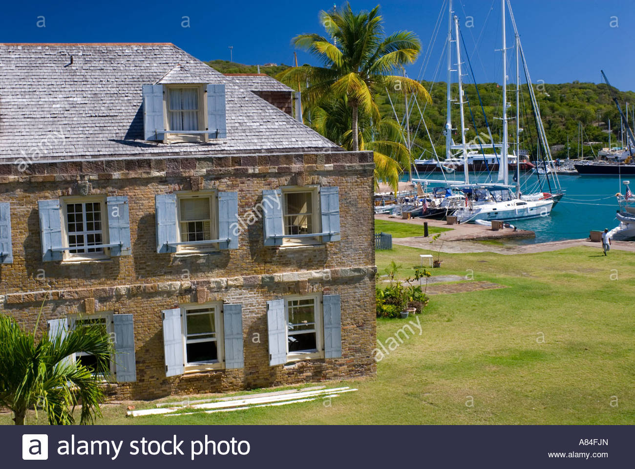 The Rear Of Copper And Lumber Hotel Restaurant In Nelson S Dockyard On