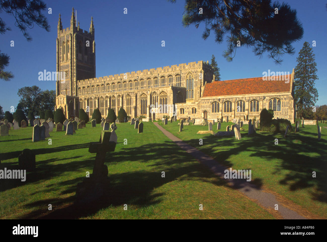 The wool church of Holy Trinity in Long Melford Suffolk England UK - Stock Image