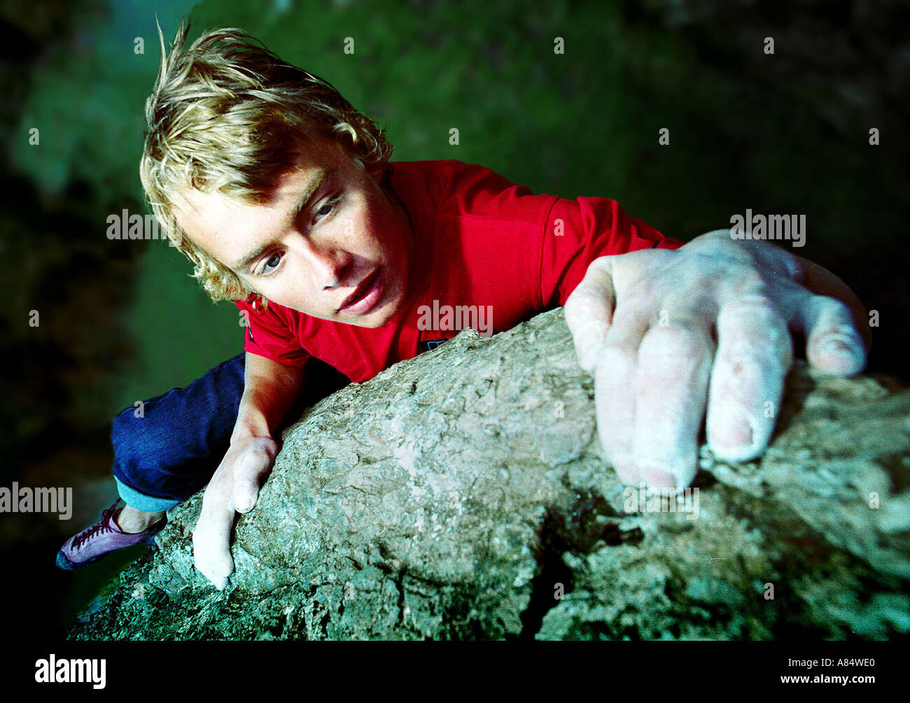 19 Year Old Leo Houlding Rock Climber Sports Personalities Wales - Stock Image