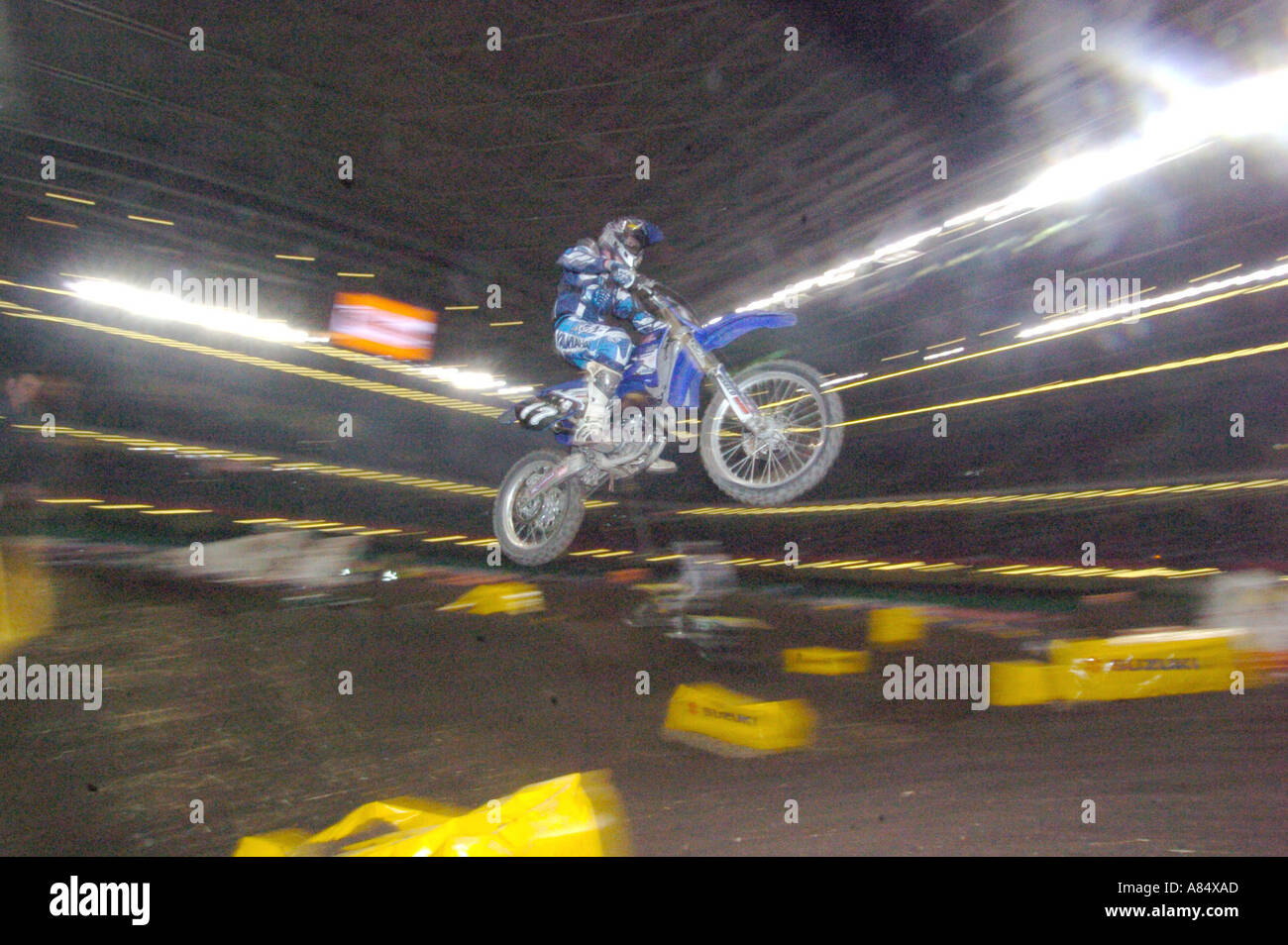 Round four of the Maxxis British Supercross Championship Millennium Stadium Cardiff South Wales - Stock Image