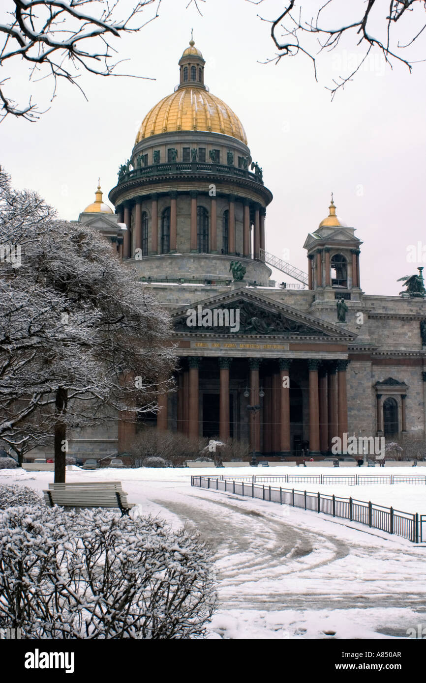 Saint Isaac's Cathedral or Isaakievskiy Sobor, St Petersburg, Russia. Stock Photo