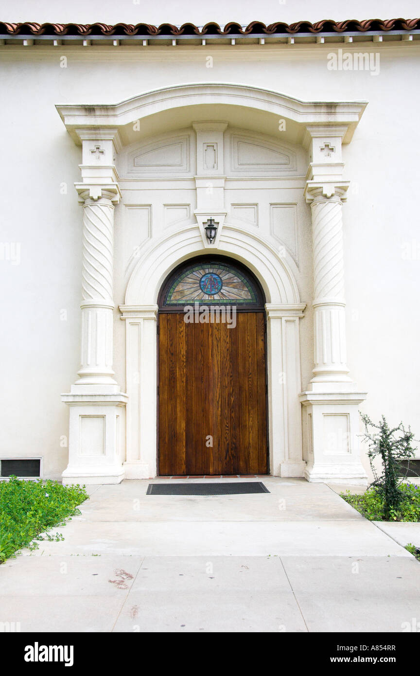 A Modern Door With Spanish Colonial Architecture In Historic Old