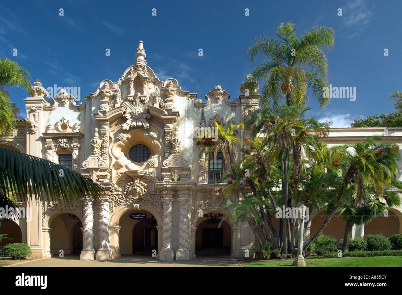 The ornate architecture of the Casa del Prado building in Balboa
