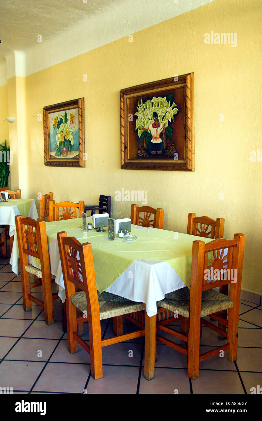 Interior decor of a Mexican restaurant in the marina district of ...