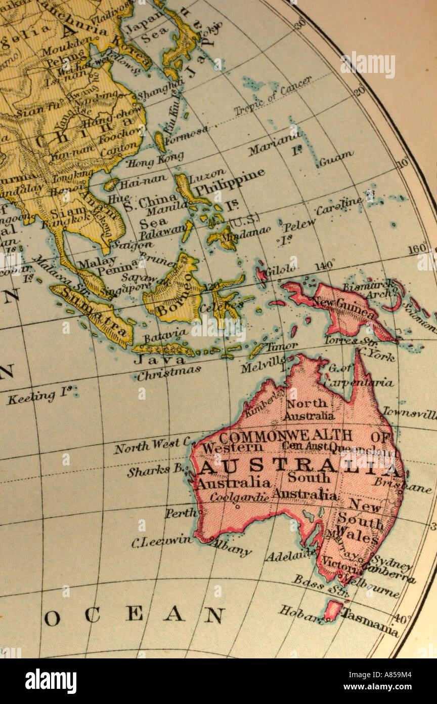 Australasia - Stock Image