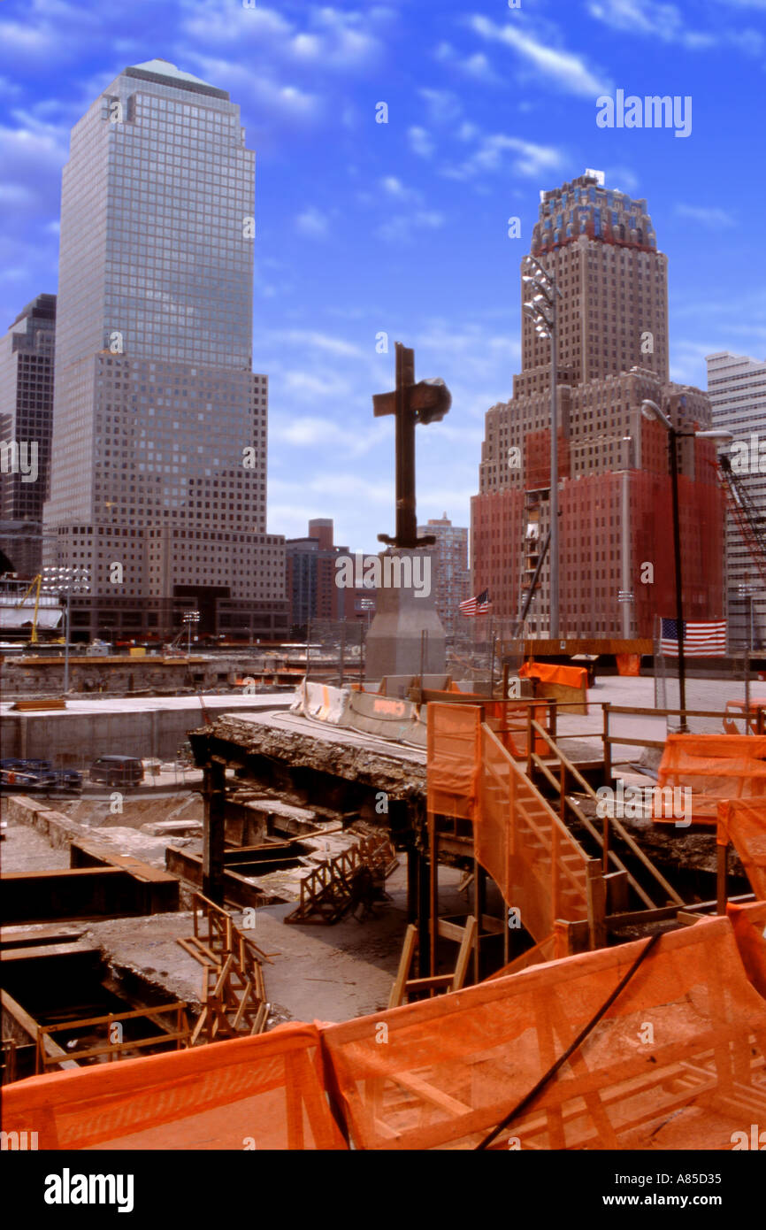 World Trade Center construction and excavation site - Stock Image