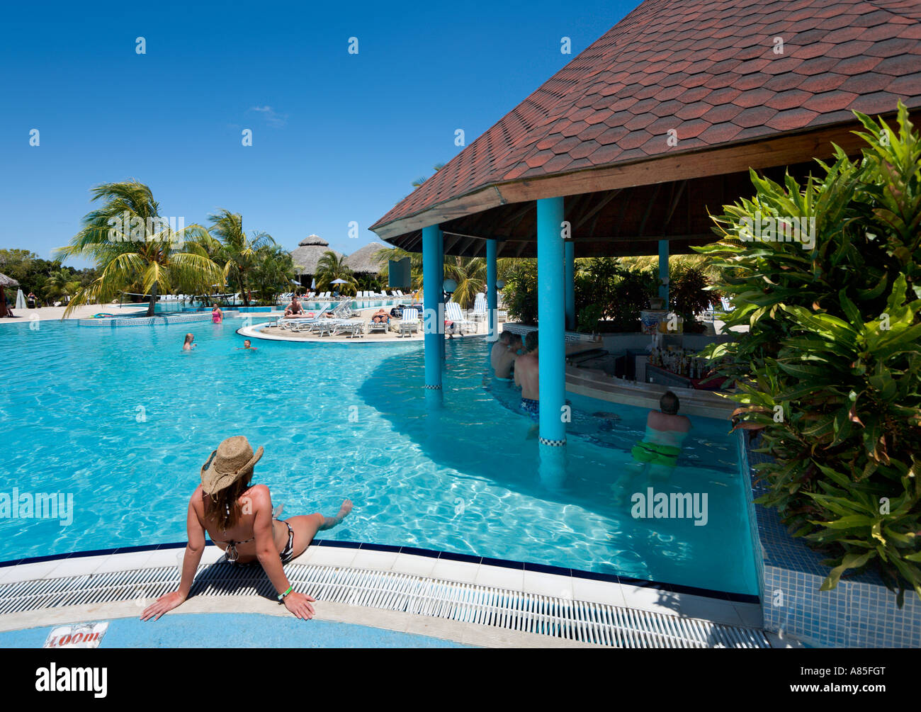 Swim Up Bar At Hotel Playa Costa Verde Guardalavaca Cuba Caribbean