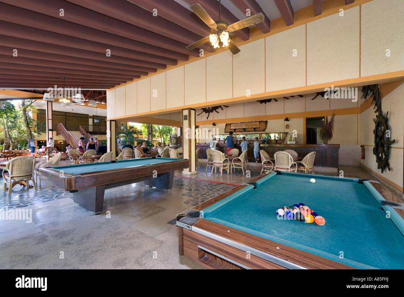 Pool Tables In Piano Bar, Hotel Sol Luna, Sol Rio De Lunes Y Mares,  Guardalavaca, Cuba, Caribbean