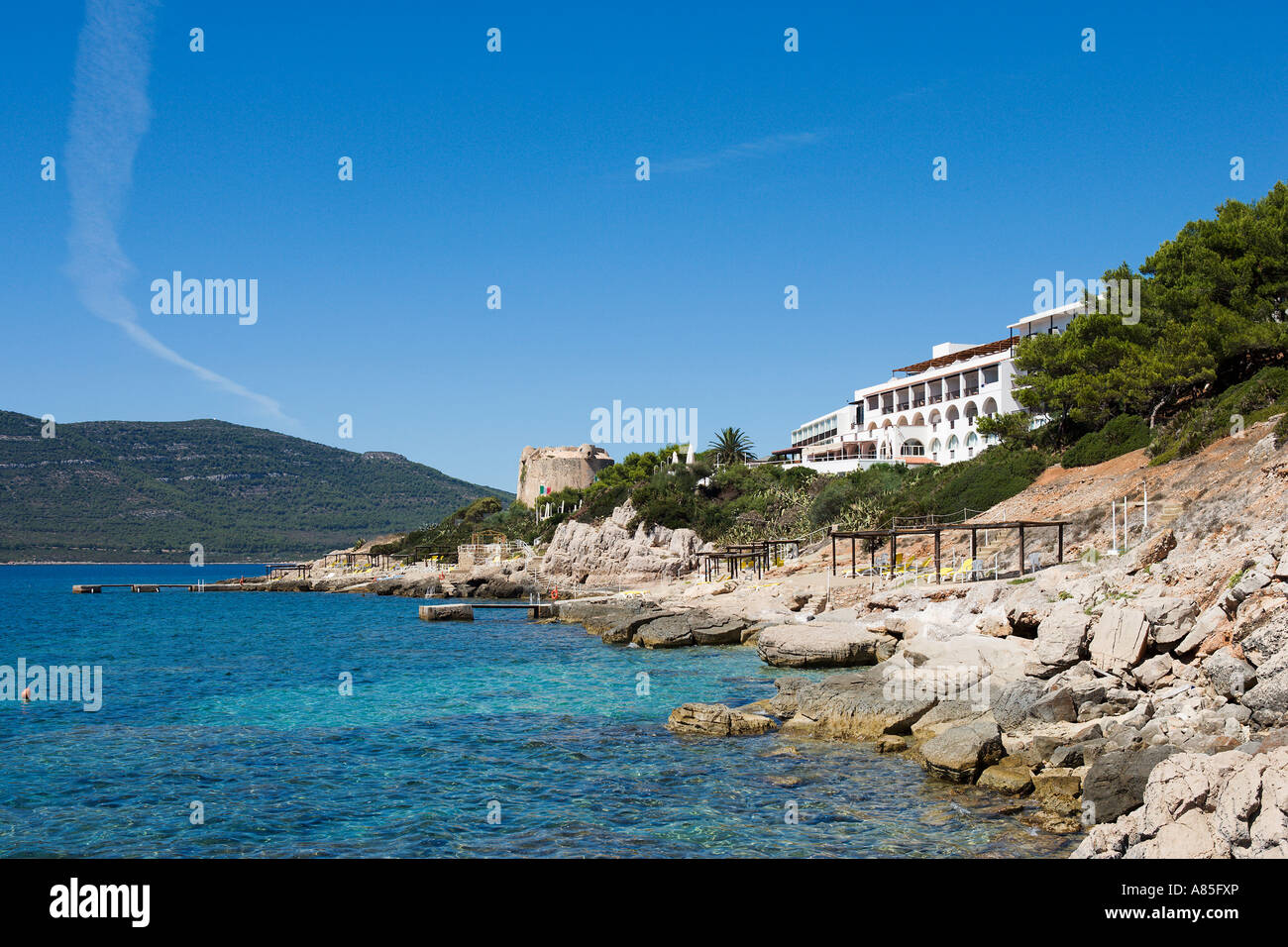 Hotel El Faro, Alghero, Sardinia, Italy - Stock Image