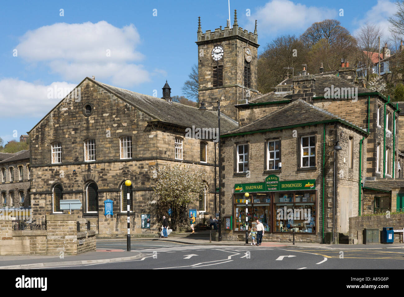 Church And Town Centre Holmfirth West Yorkshire England
