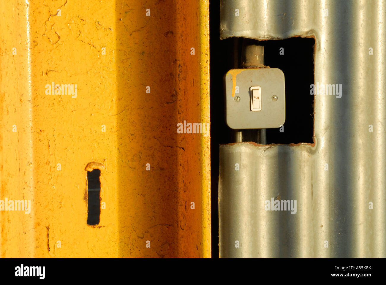 Industrial Lightswitch Stock Photo: 11995482 - Alamy
