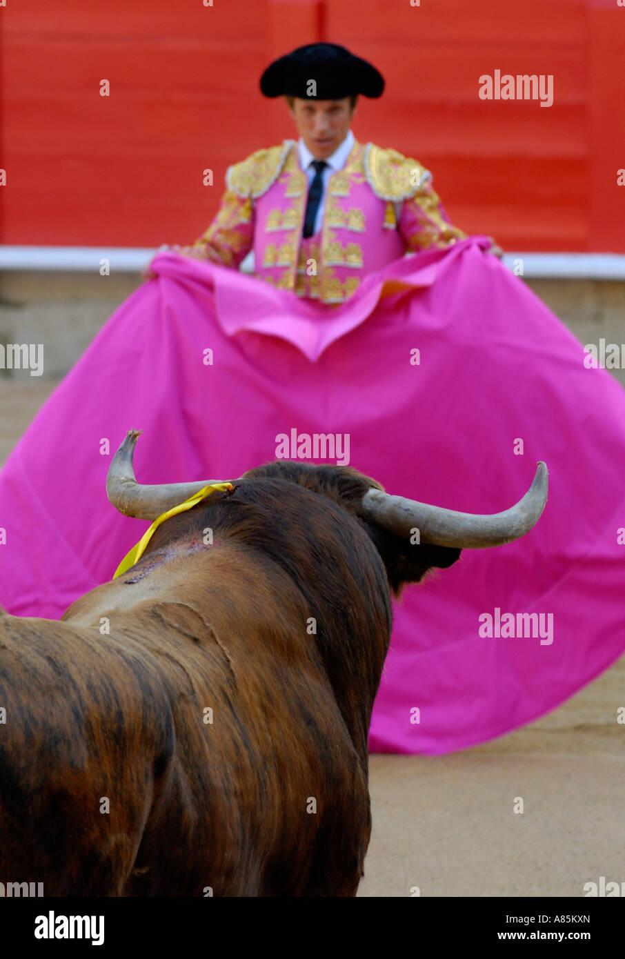 SPANISH BULLFIGHTER BARCELONA CATALONIA SPAIN Stock Photo