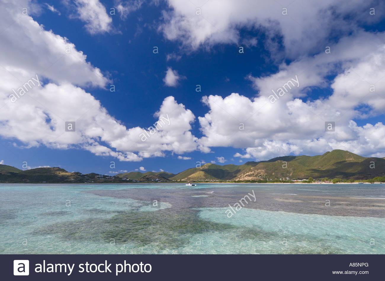Le Galion Beach, Saint Martin, French Antilles, Caribbean - Stock Image