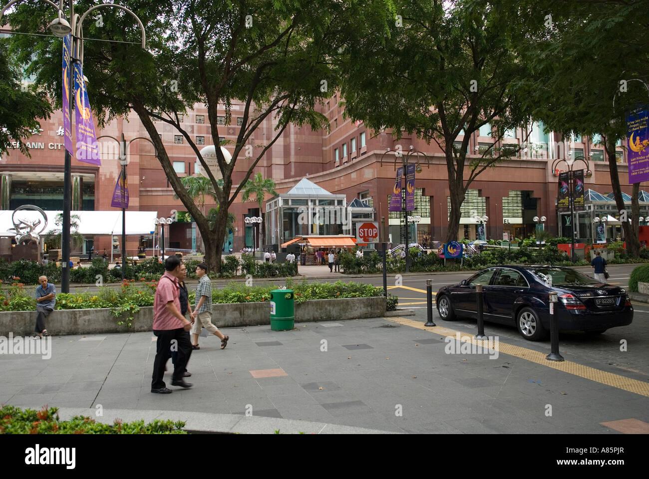 Orchard Road and Takashimaya Mall, Singapore. - Stock Image