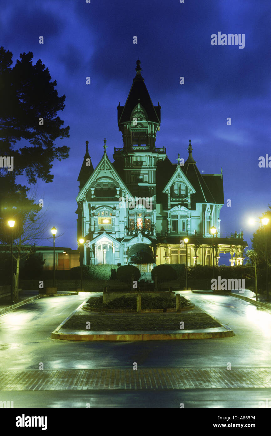 The Carson House is classic Victorian architecture located in Eureka in Northern California - Stock Image