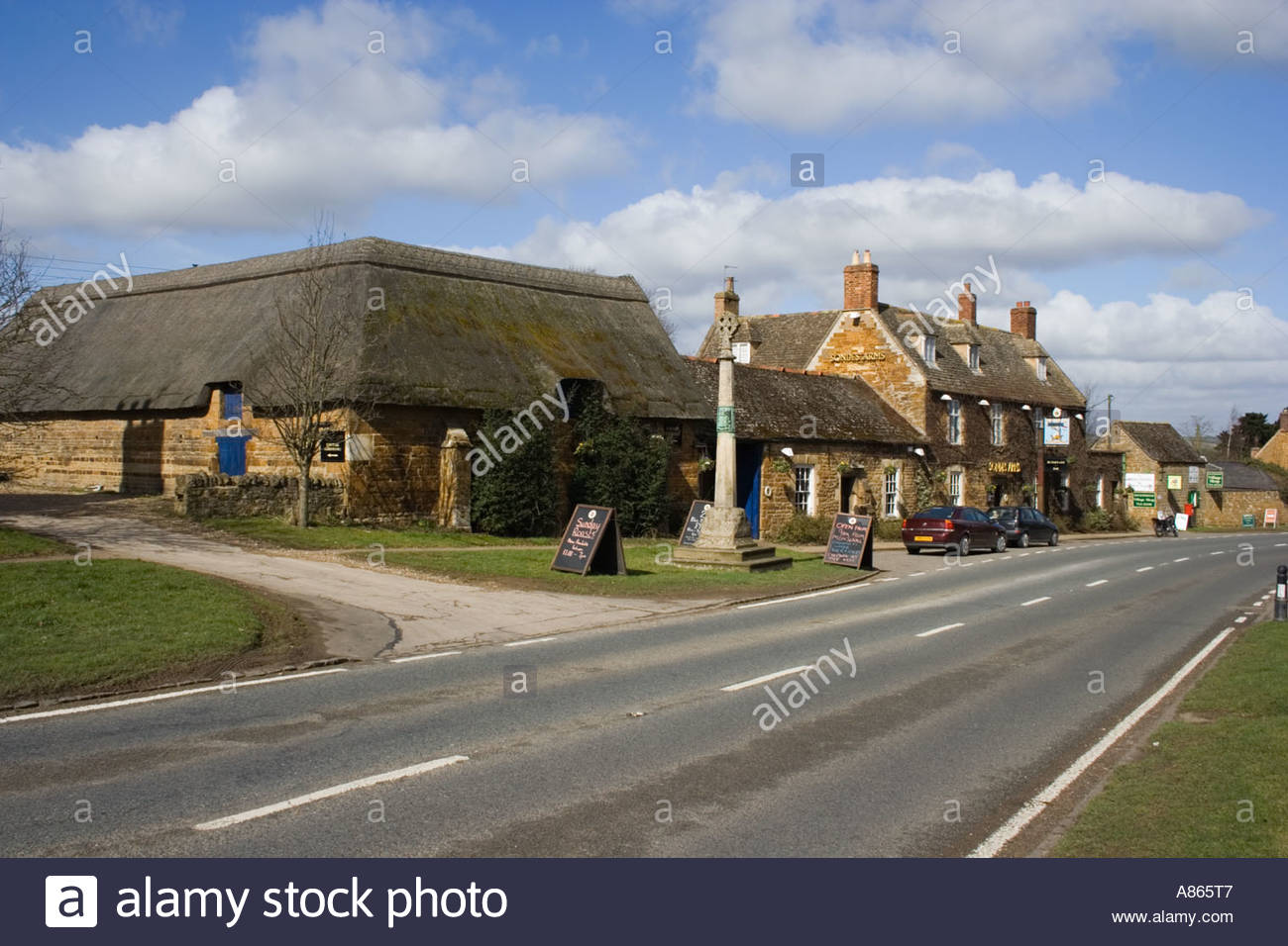 Rockingham, Village, Northamptoshire,Public House, - Stock Image