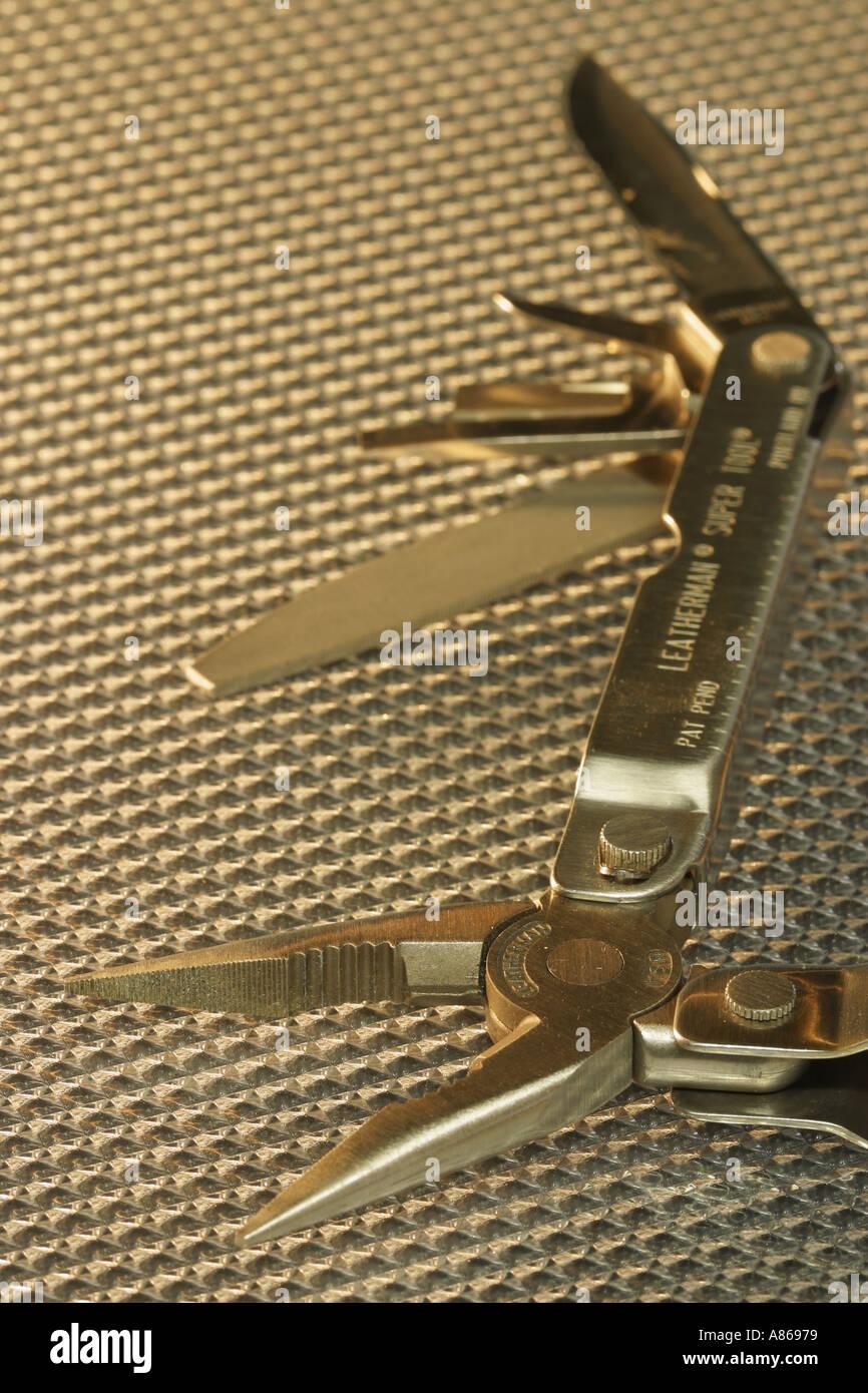 Leatherman multi purpose tool - Stock Image