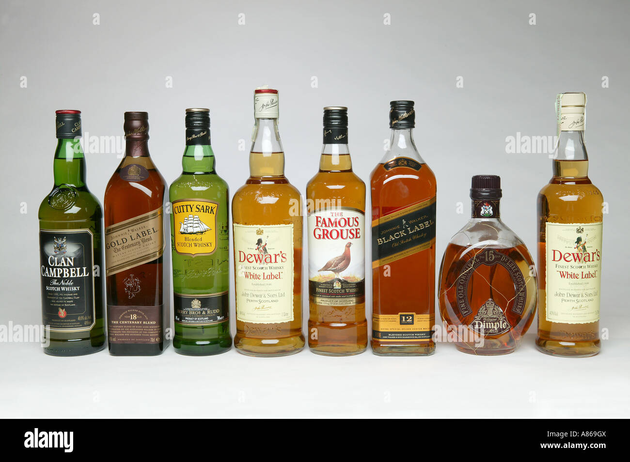 a line up of distinctive whiskeys from the united kingdom shot ion a