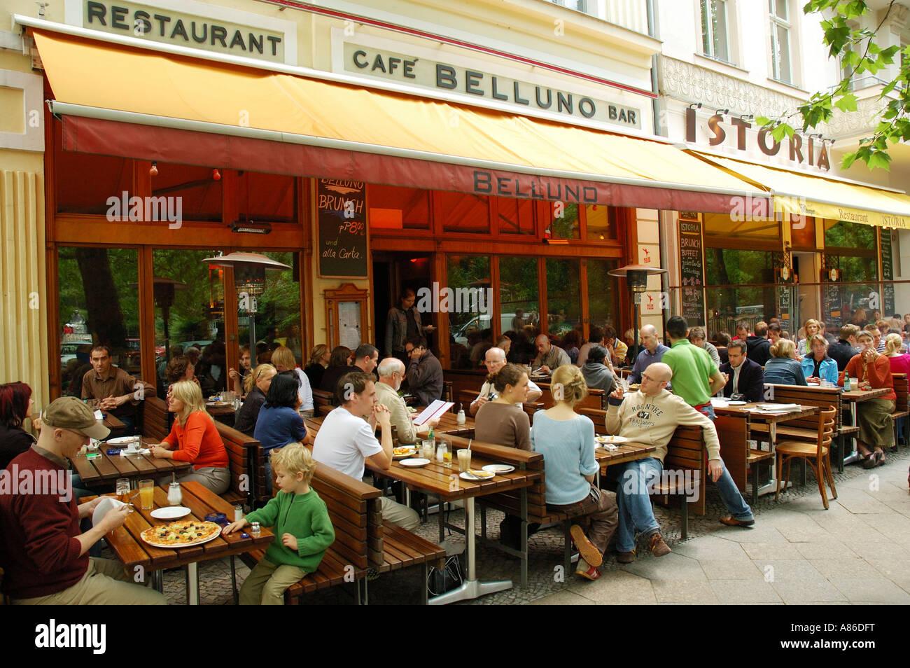 Prenzlauer Berg Is Full Of Restaurants Berlin Germany Stock