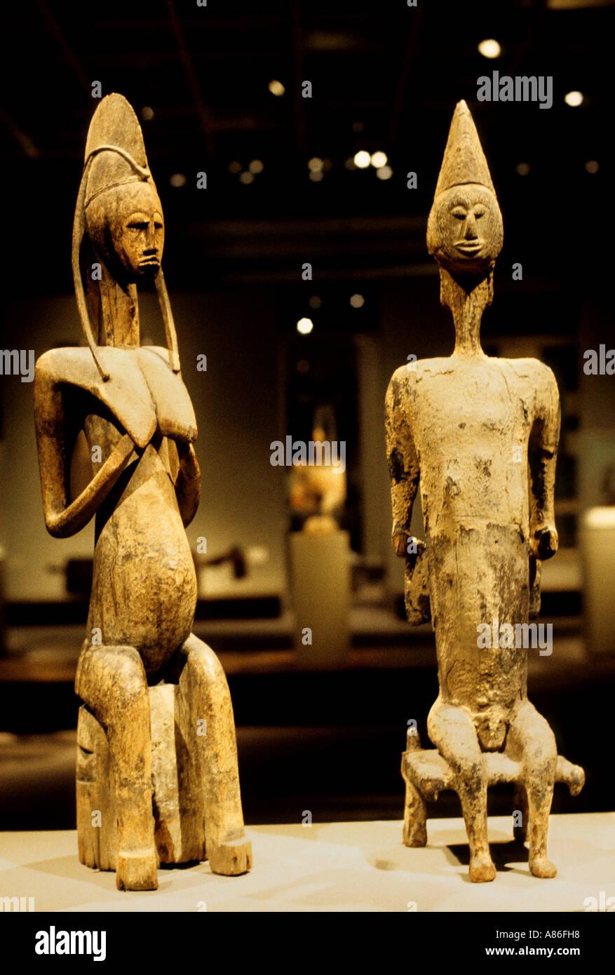 Museum Art  Senufo Ivory Coast Africa African - Stock Image