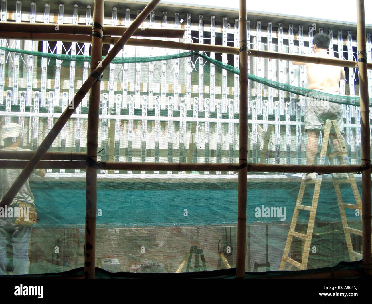 Hong Kong construction site - Stock Image