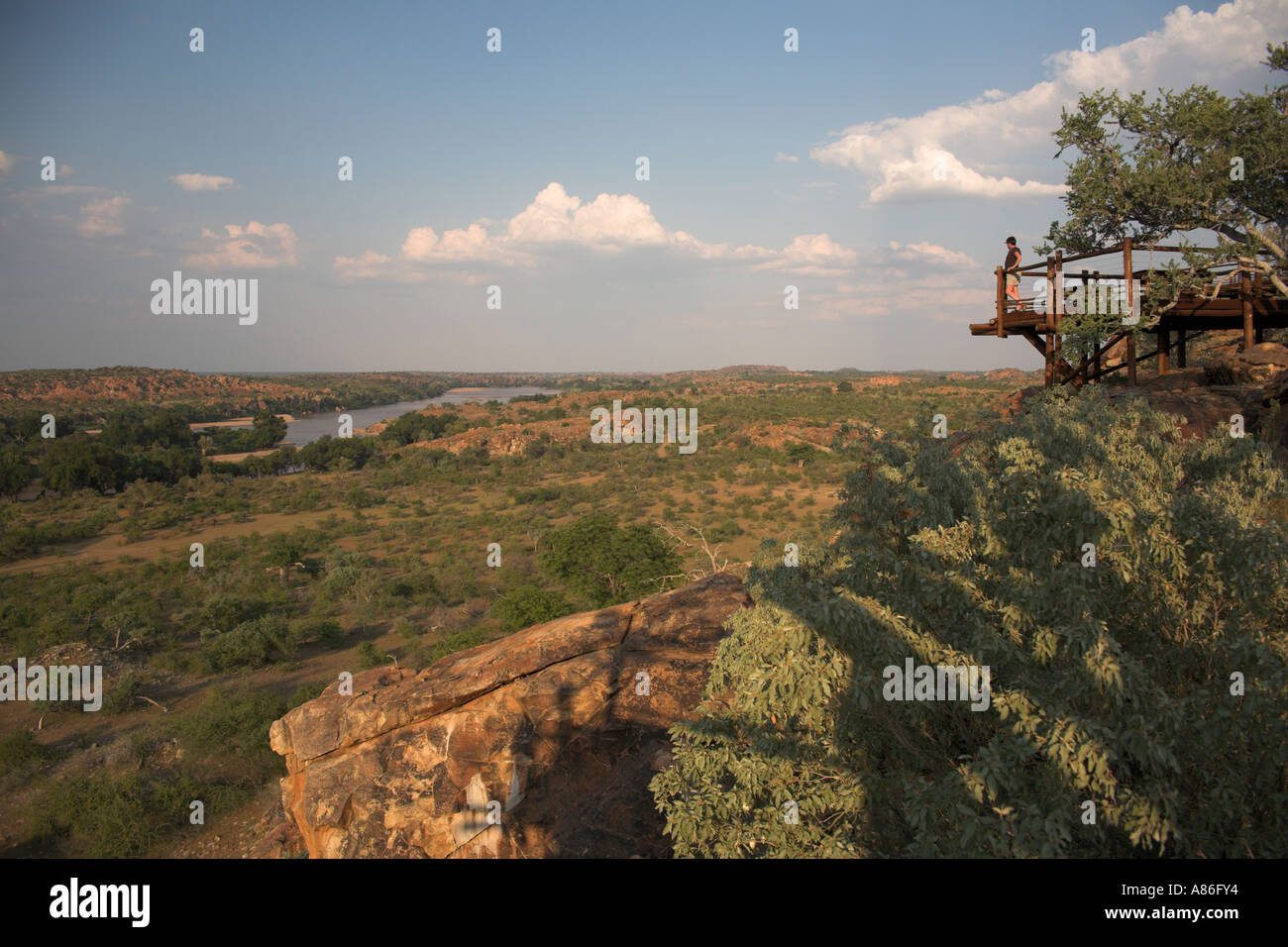 Map Of Africa Viewpoint.Mapungubwe National Park Confluence Viewpoint Overlooking Limpopo