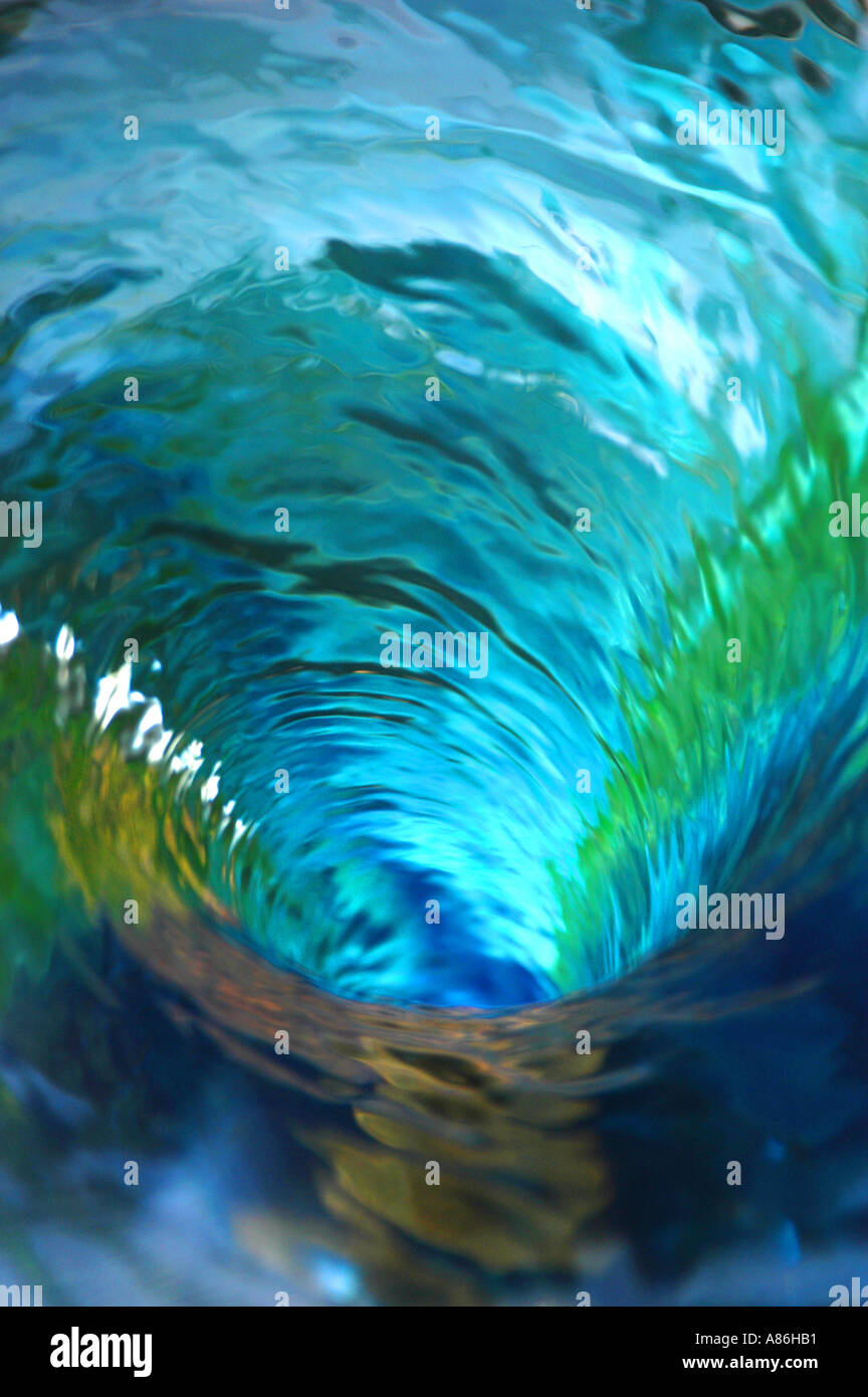 aerial view of water vortex - Stock Image
