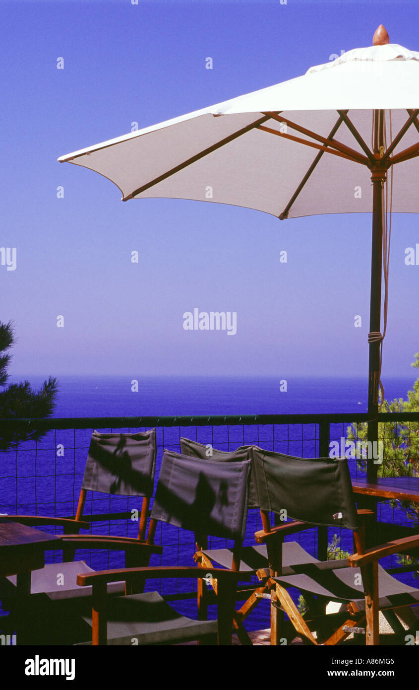 The place to sit, Mallorca, Balearic Islands, Spain. - Stock Image